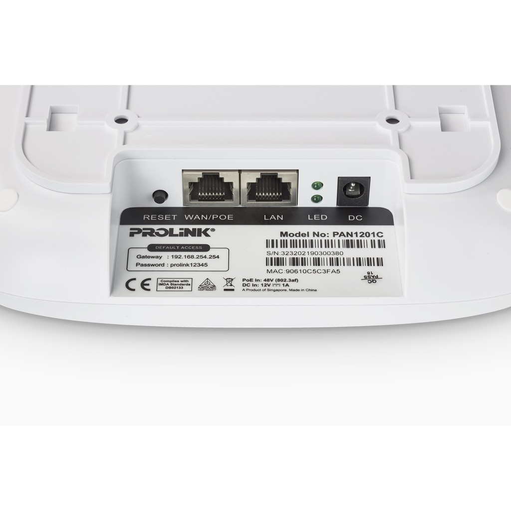 PROLiNK Wireless Enterprise Ceiling Access Point High Power (300Mbps) PAN1201C
