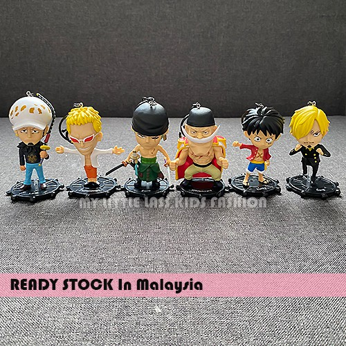 6pcs ONE PIECE Keychain Figure Keyring Pendant Toy Luffy/Zoro/Franky/Brook
