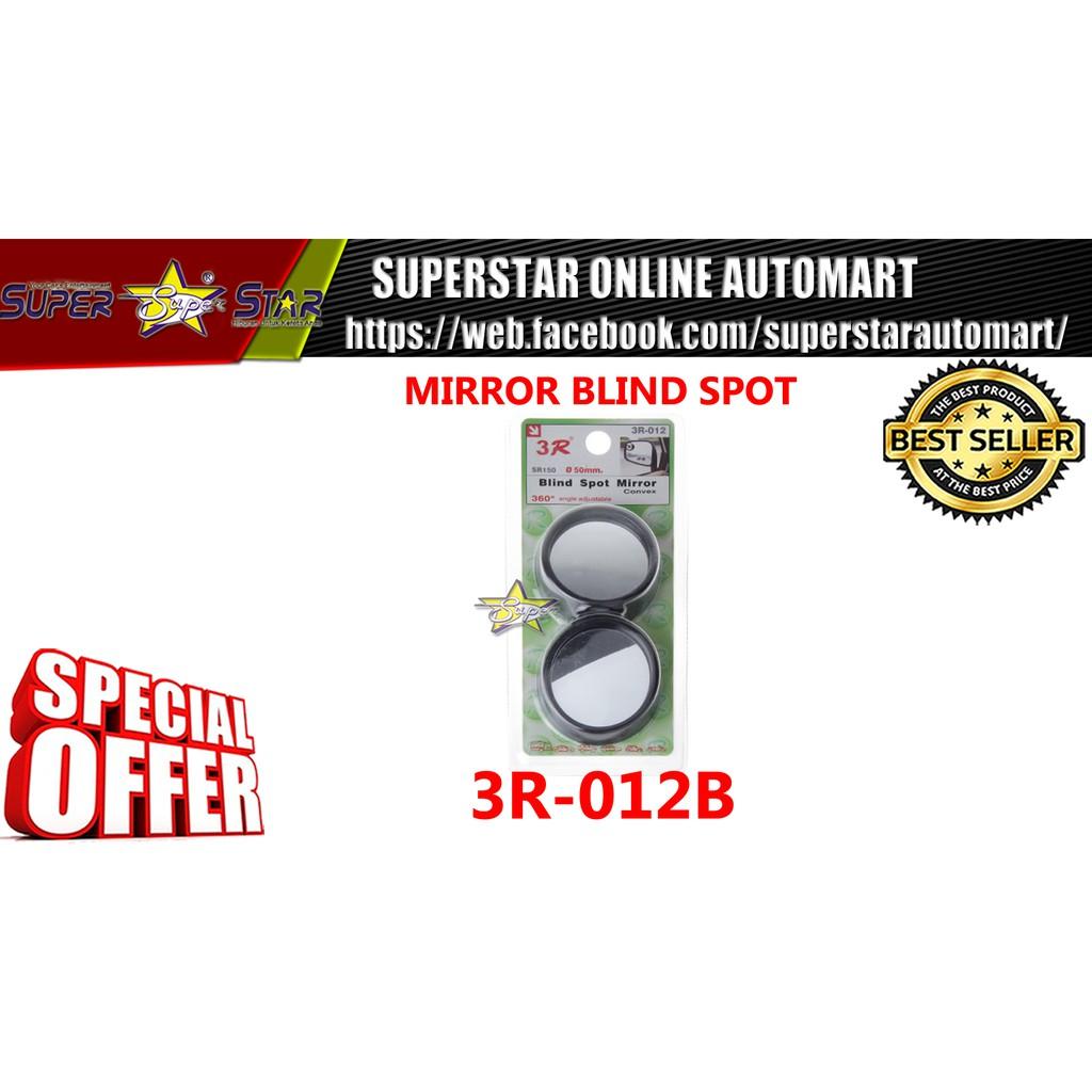 Black 50mm 360 Rotation Adjustable Car Suv Truck Blind Spot Side Mirror x2