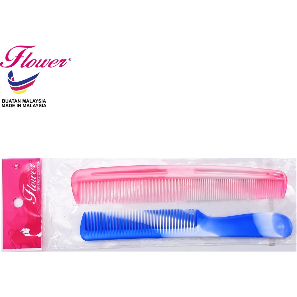 Flower Brush Rainbow Colour Comb Hair Styling Made in Malaysia (Sikat/Berus Rambut/Balung/Sisir)