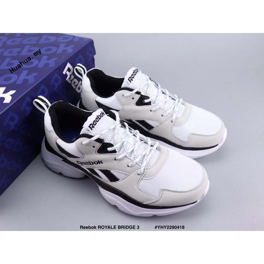 Ready Stock Reebok Royale Bridge 3 Gray Retro Running Shoes Shopee Malaysia