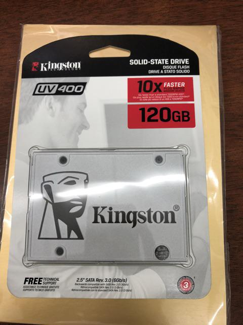 Kingston SSDNow UV400 SATA 3 SSD - 120GB (Speed up 550MB/sec