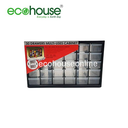 Ecohouse 30 Compartment Stackable Heavy Duty Drawers/Plastic Storage Multi Uses Organizing Cabinet [ READY STOCK ]