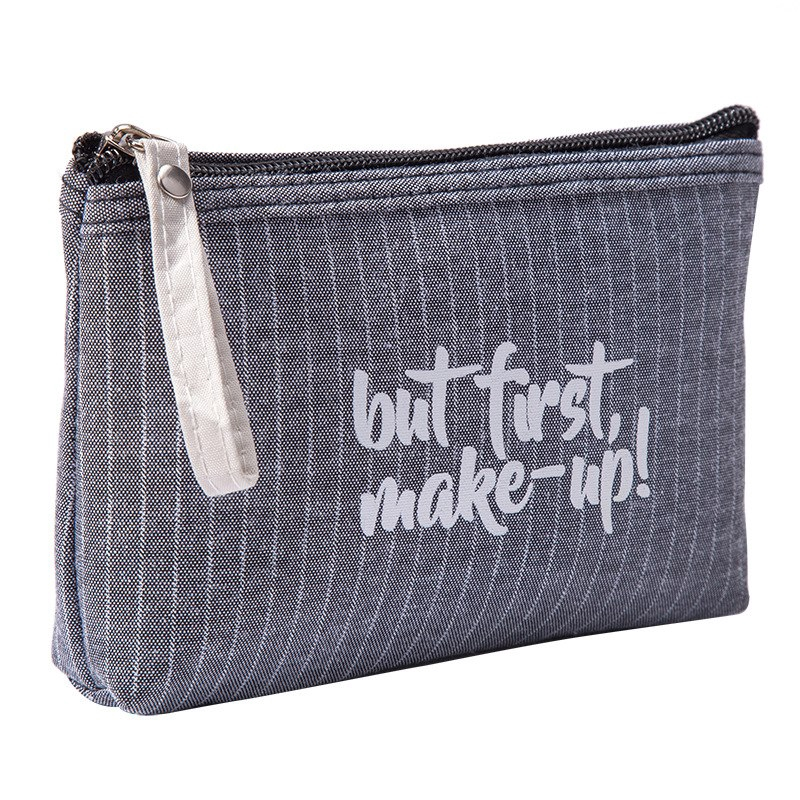 29af3a8b79b0 ProductImage. ProductImage. Small Cosmetic Bag Striped Makeup Case Zipper  Lip Make Up Bags Beauty ...