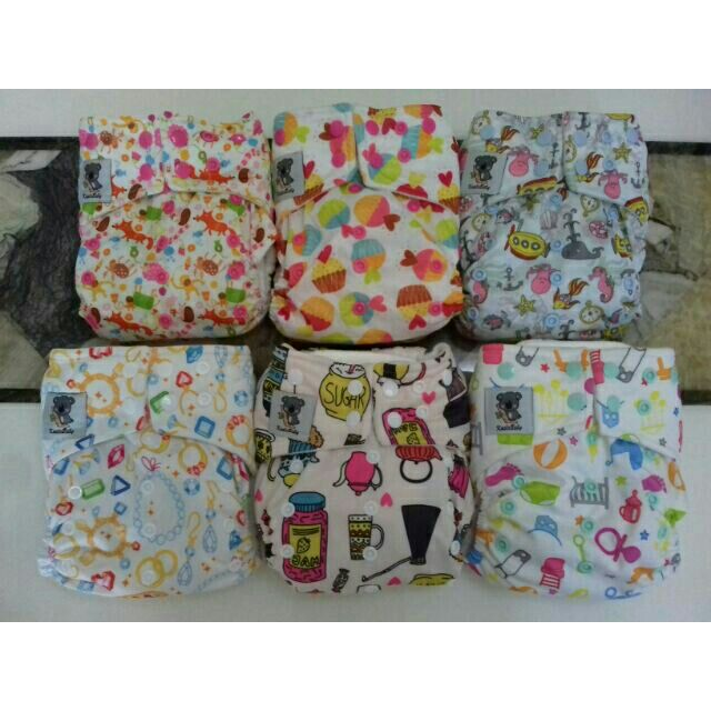 Green Unicorn Baby Premium Baby Cloth Nappy Reusable Double Gusset 4 layer insert