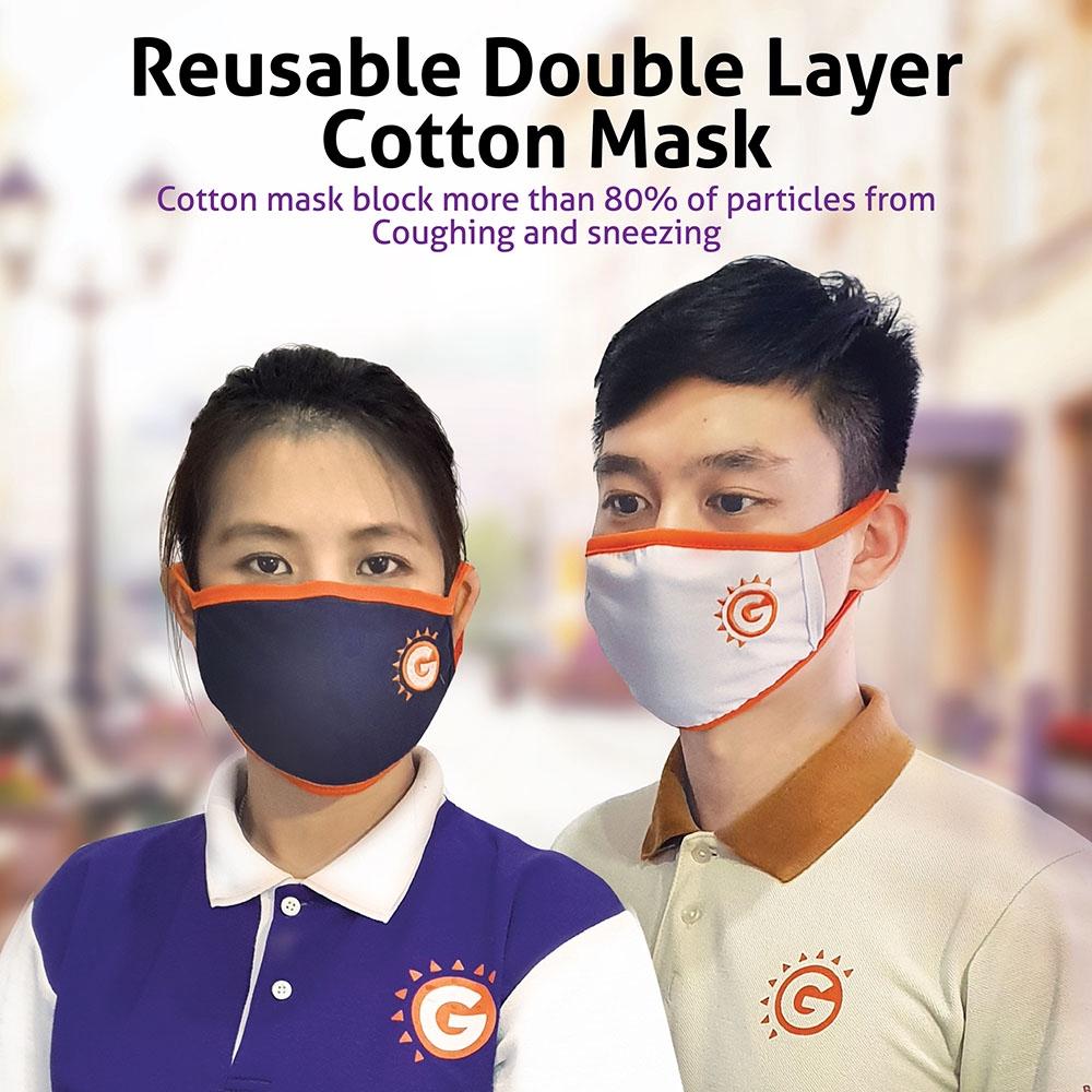 Good Morning Cloth Face Mask (Adult) - BLUE ORANGE