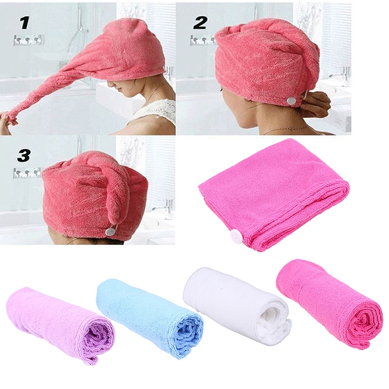 Microfiber Hair Wrap Towel Quick Dry Bath Spa Head Cap Turban Twist Dry Shower