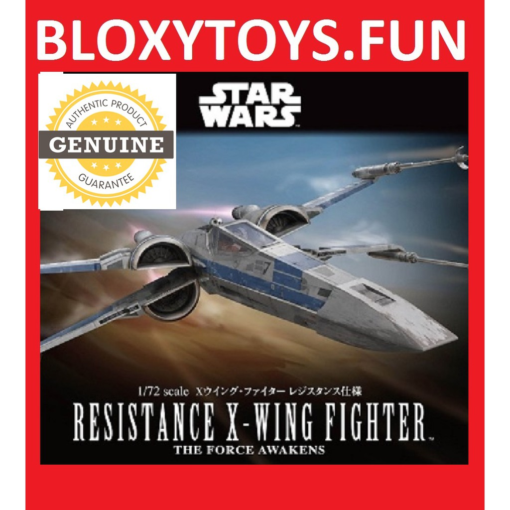 Star Wars 1//72 Resistance X-Wing Fighter Plastic Model Bandai FROM JAPAN