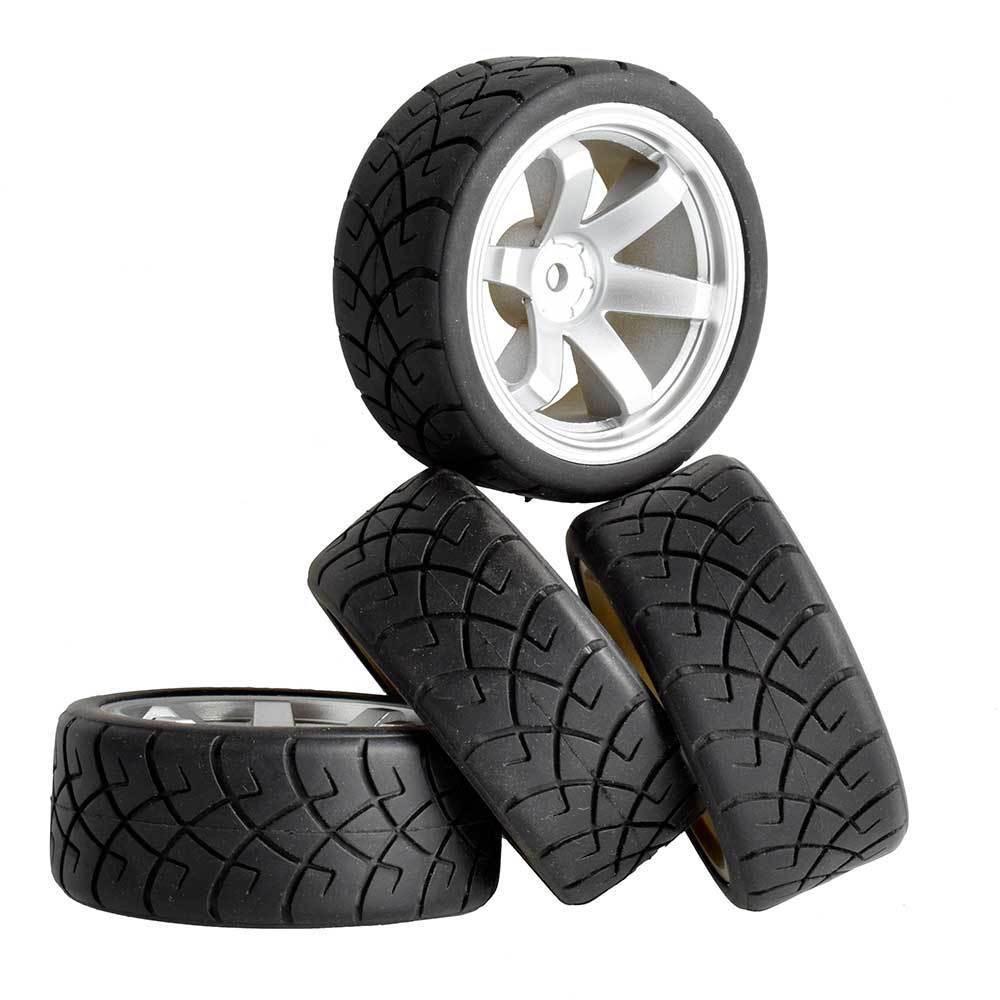 RC 701S-6090 Tires & Wheel insert sponge 4Pcs For HSP 1:10 Racing speed Road Car