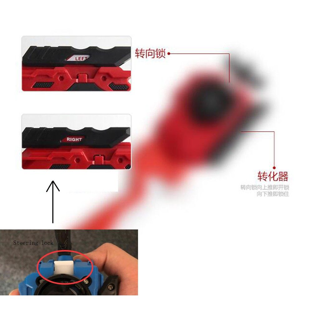 Top Spinner Beyblade Burst Launcher /& Grip per B88 B109 Starter toy 4 Colore