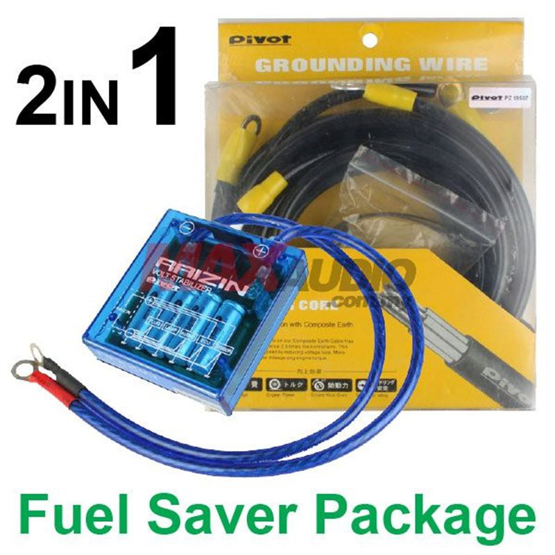 [FREE Gift] 2in1 PIVOT VS-1 Voltage Stabilizer + PIVOT 7 Core 5-Point Grounding Cable Fuel Saver Package