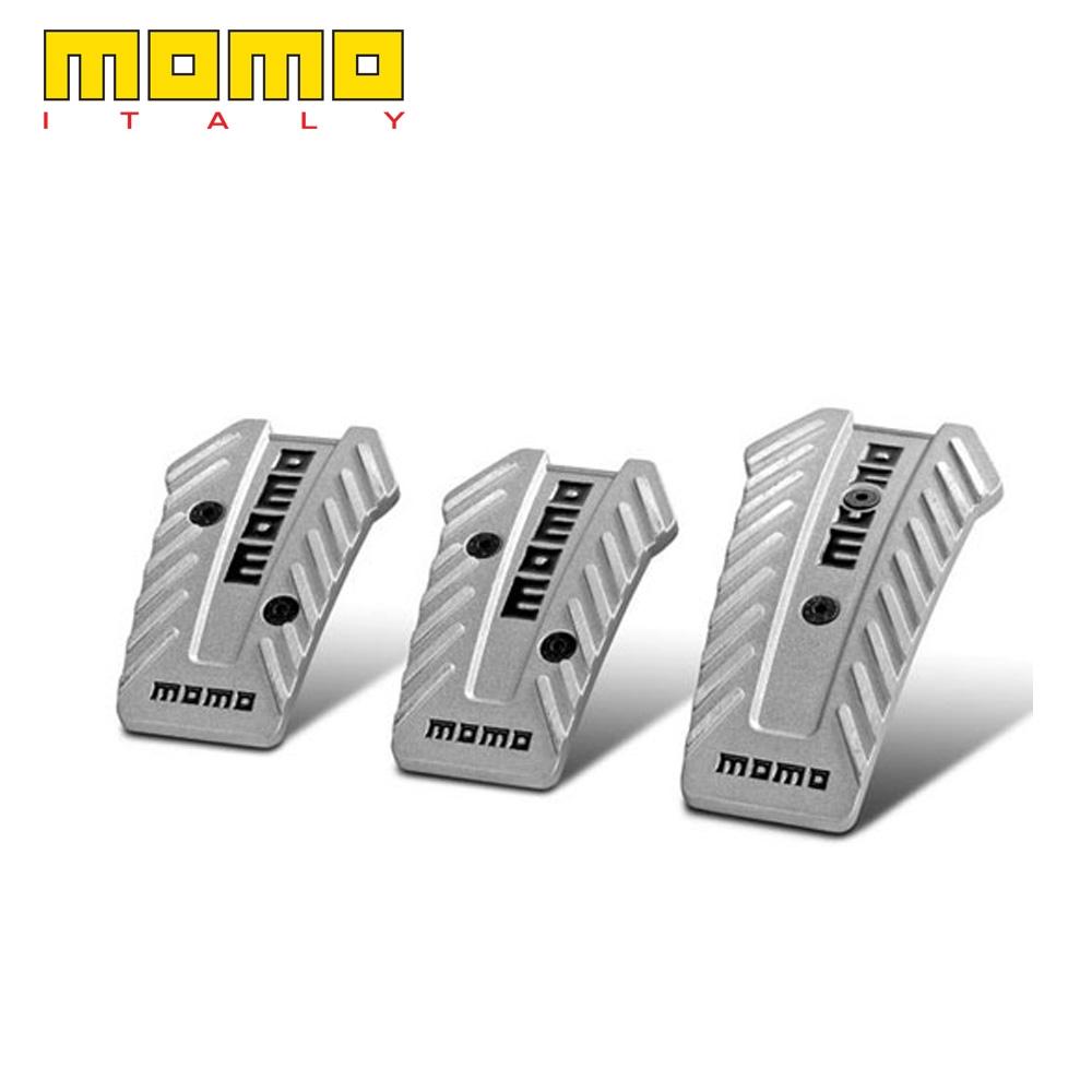 Momo Style Black Aluminium Non Slip Sport Pedal Brake Pad Cover Manual Car 3 PCS