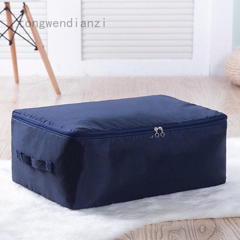 tongwendianzi Quilt Bag Foldable Storage Bag Clothes Blanket Closet Sweater Organizer Box Pouch