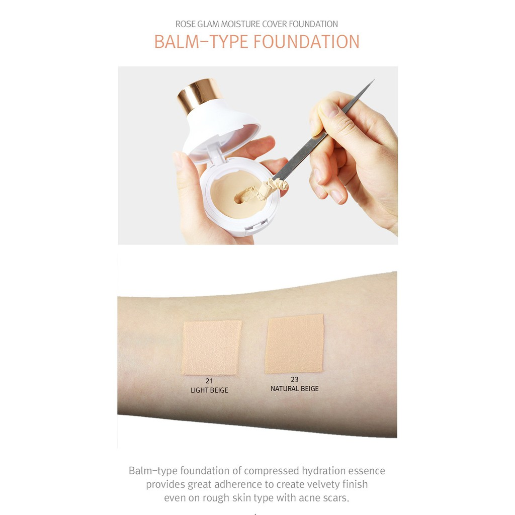 Rose Glam Moisture Cover Foundation by april skin #5