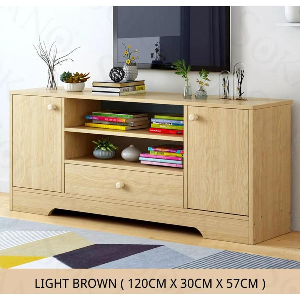 Premium Quality Tv Cabinet Living Room Furniture Tv Cabinet Solid Wood Rak Tv Kabinet Tv Shopee Malaysia
