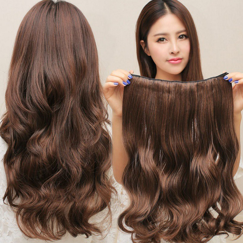 50CM home HomeBeautyTool Trendy Hair Extension Turn Wavy Clip-on Trendy Long