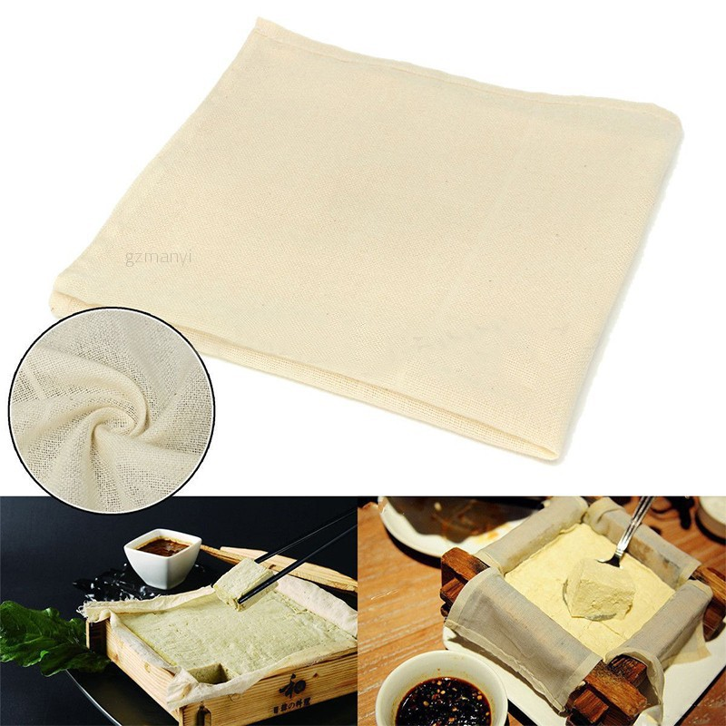 Good Mayitr Tofu Cloth Tofu Maker Gauze Cotton Cheese Cloth For Kitchen Diy Pressing Mould Kitchen Tool 40 X 40cm Cheese Clothes