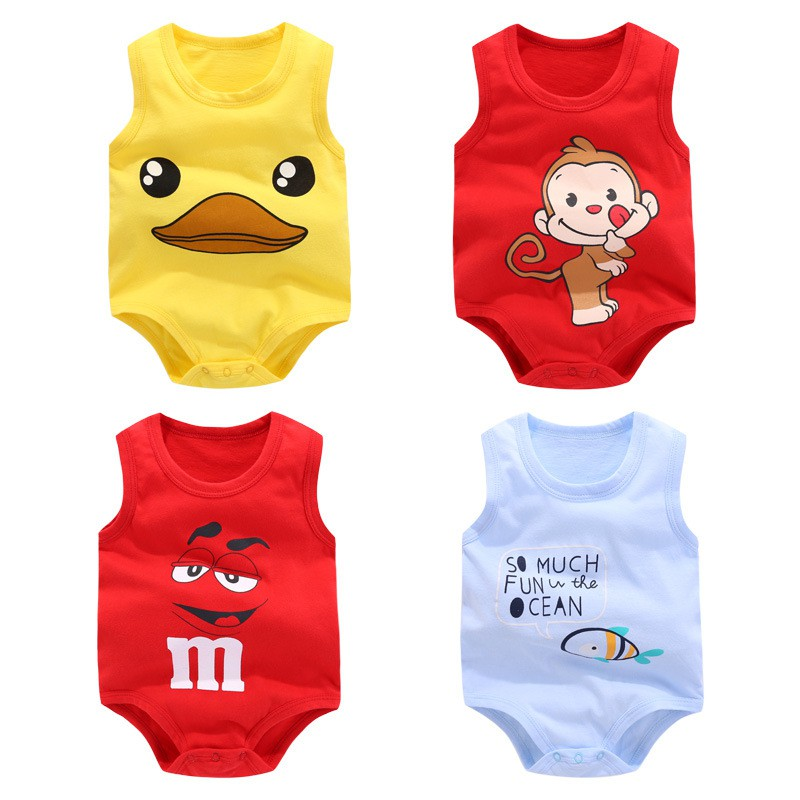 75a86691afe summer sleeveless baby romper cotton baby boys girls clothes for 0-24M  newborn