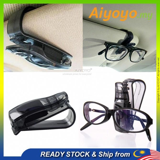 Car Visor Glasses Holder Sunglass Clip Glasses Clip Klip Cermin Mata Eyeglasses Holder Sun Visor Storage Holder Card Tic