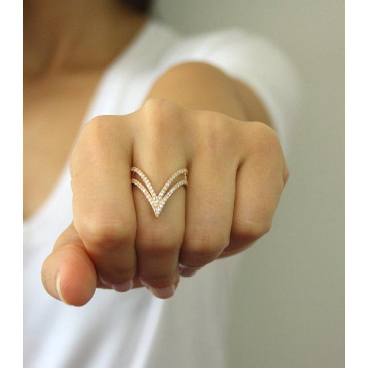Simple Women Fashion 14k Gold Diamond Jewelry Bride Engagement