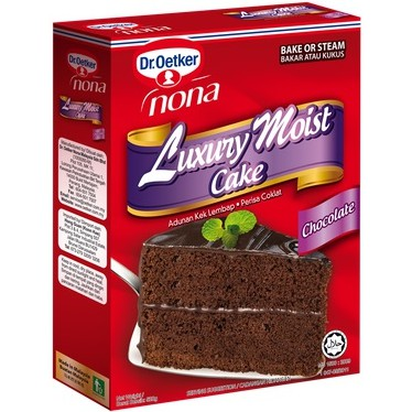 Dr.Oetker Nona Luxury MOIST Cake - Chocolate Flavour @ 520g ( Free Fragile + Bubblewrap Packing )
