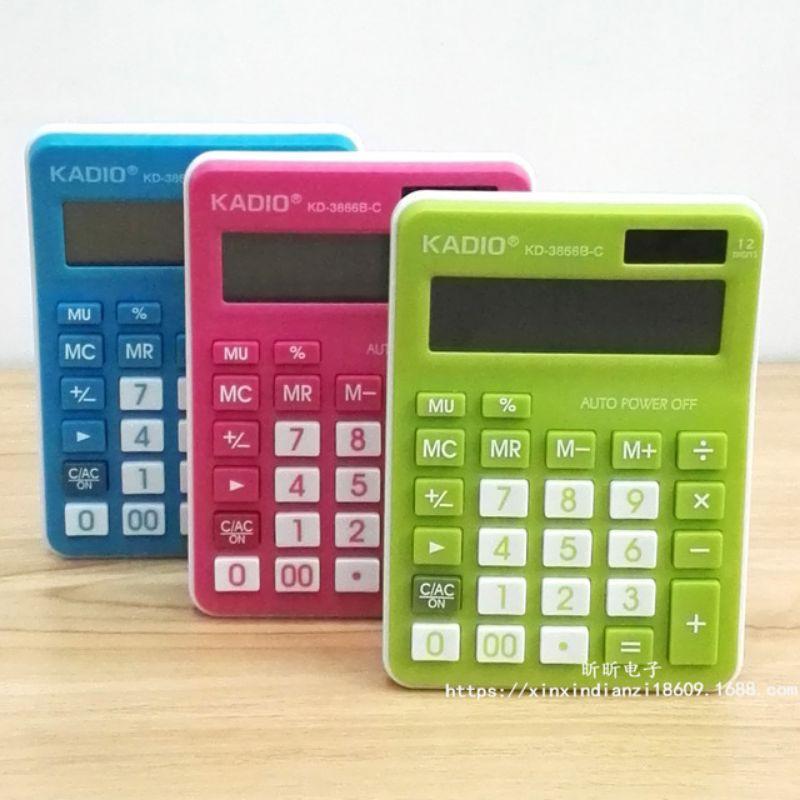 kadio desktop calculator KD-3866B-C ELECTRONIC CALCULATOR solar and battery operated AAA