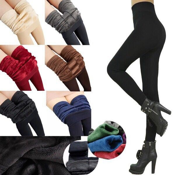 Limited Sale Ready Stock Women Winter Warm Fleece Lined Thermal Tights Pants Fitness Velvet Legging Trousers Thermal Stretchy Pants Women S Pants Shopee Malaysia