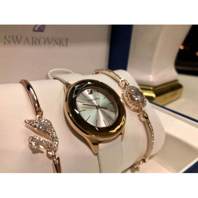 ef25f4a61aa5 (Ready Stock) 3 in 1 Rose Gold Jam Tangan Swarovski Wanita Women Watch |  Shopee Malaysia
