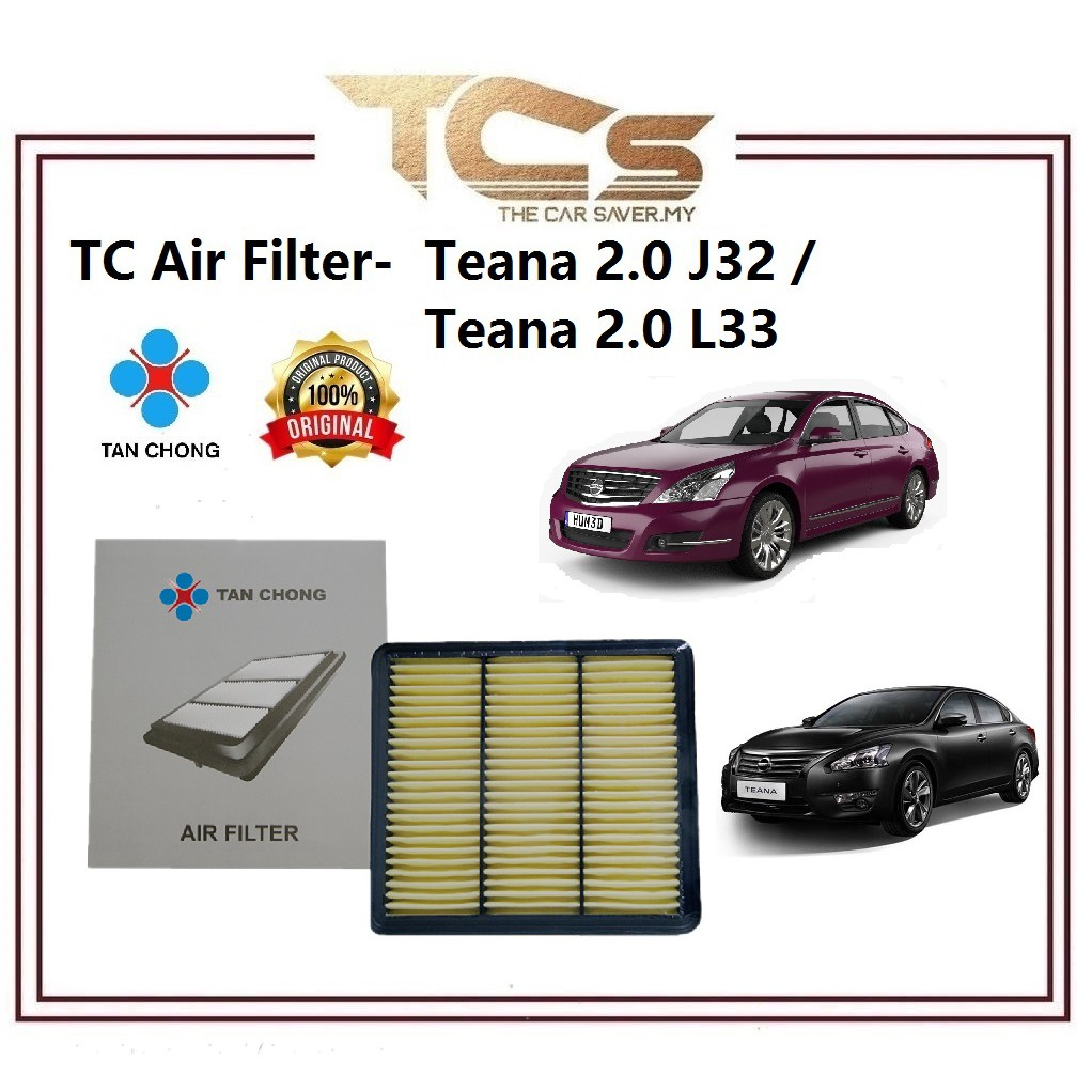 TC Air Filter-Nissan Teana 2.0 J32 / Teana 2.0 L33 (16546-JN30AMY)