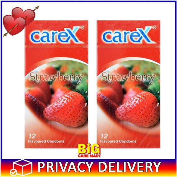 Carex Condoms Strawberry Flavor 12pc X 2box