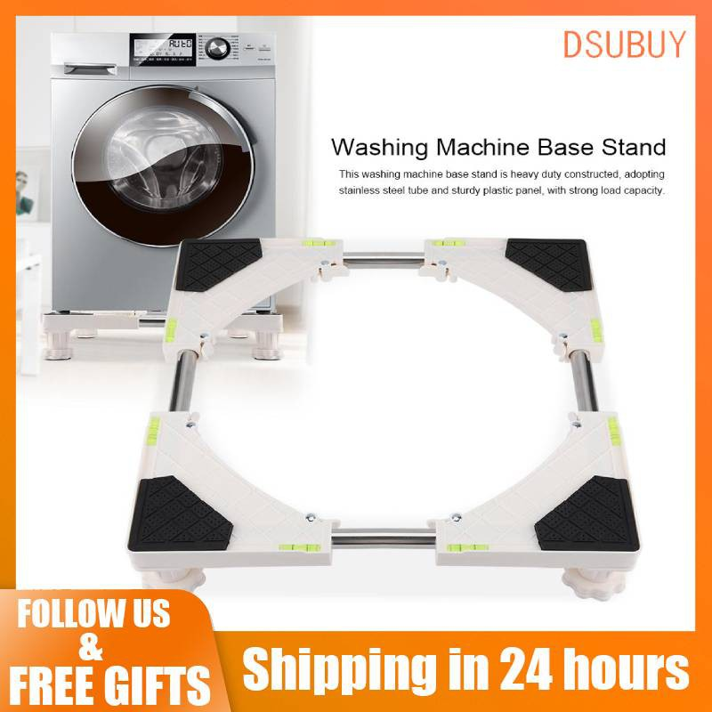 4/8 Feet Adjustable Washing Machine Refrigerator Base Stand