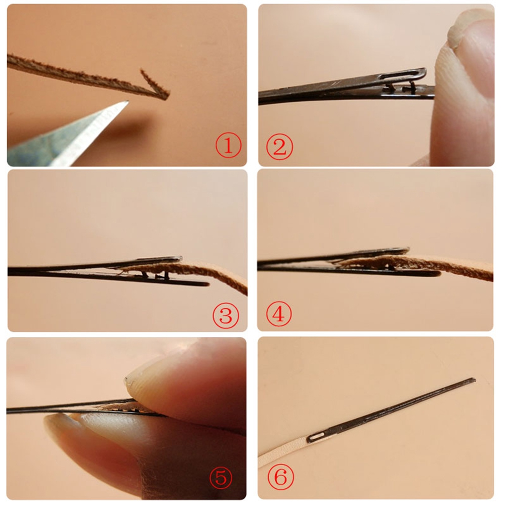 Household DIY Craft Tool Double Hole Sewing Knitting Rope Leather Needle