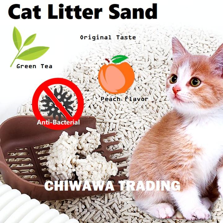 UPGRADE - 6L Tofu Anti-Bacterial Odor Control Cat Litter Sand Pets Clumping Absorbent / Pasir Kucing
