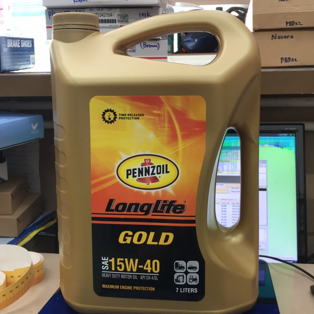 PENNZOIL DIESEL LONG LIFE GOLD ENGINE OIL SAE 15W-40 7Liters