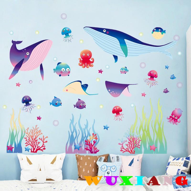 【wuxiang】Children's Bedroom Cartoon Pink Flowers Sticker Cute Daze Bear AY7017 | Shopee Malaysia