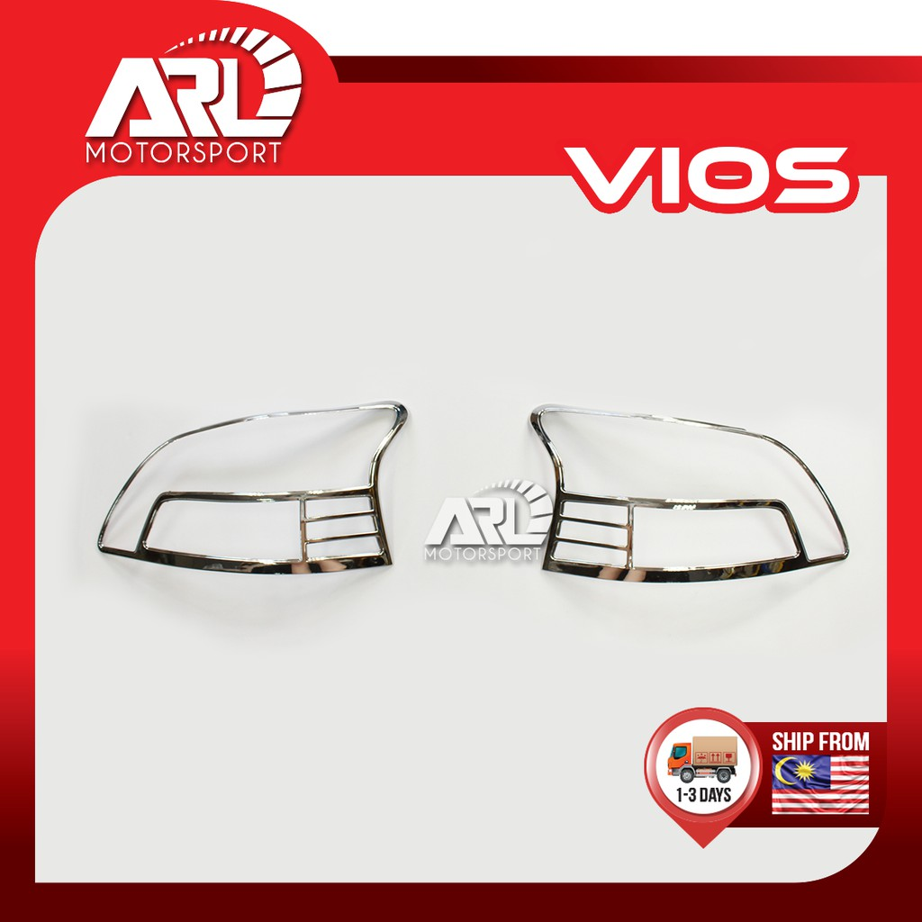 Toyota Vios (2007-2012) NCP93 Tail Light Lamp Cover Chrome Car Auto Acccessories ARL Motorsport