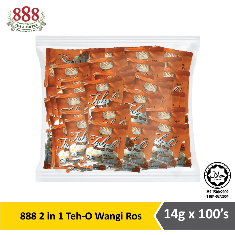 888 2 in 1 Teh O Wangi Ros Pot Bag (14g x 100s)