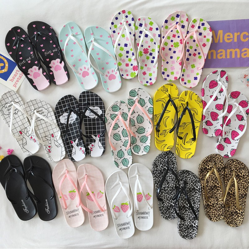 Couple Flip Flops Artist Legs Print Chic Sandals Slipper Rubber Non-Slip Beach Thong Slippers