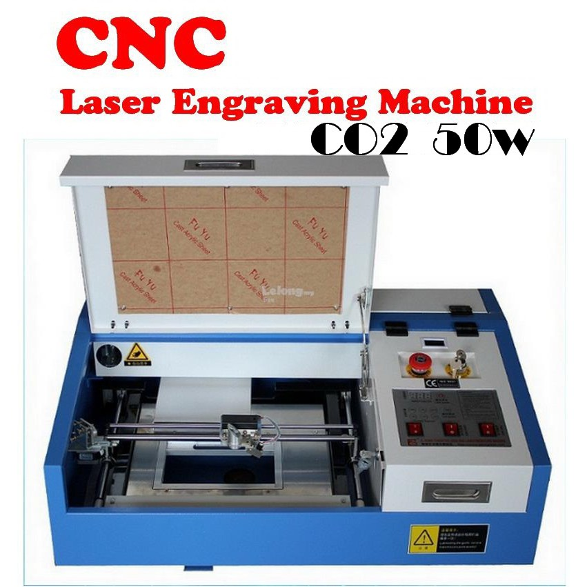 CNC 50w LASER Engraving Machine CO2 LASER TUBE Machine