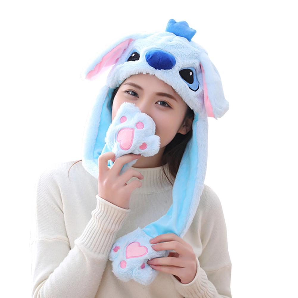 Adult Kids Hat Pinch Long Ears Moving Hat Plush Animals Hat