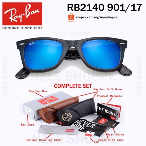 Original RayBan Wayfarer Rare Print RB2140 1114 London 54mm  6c61396567