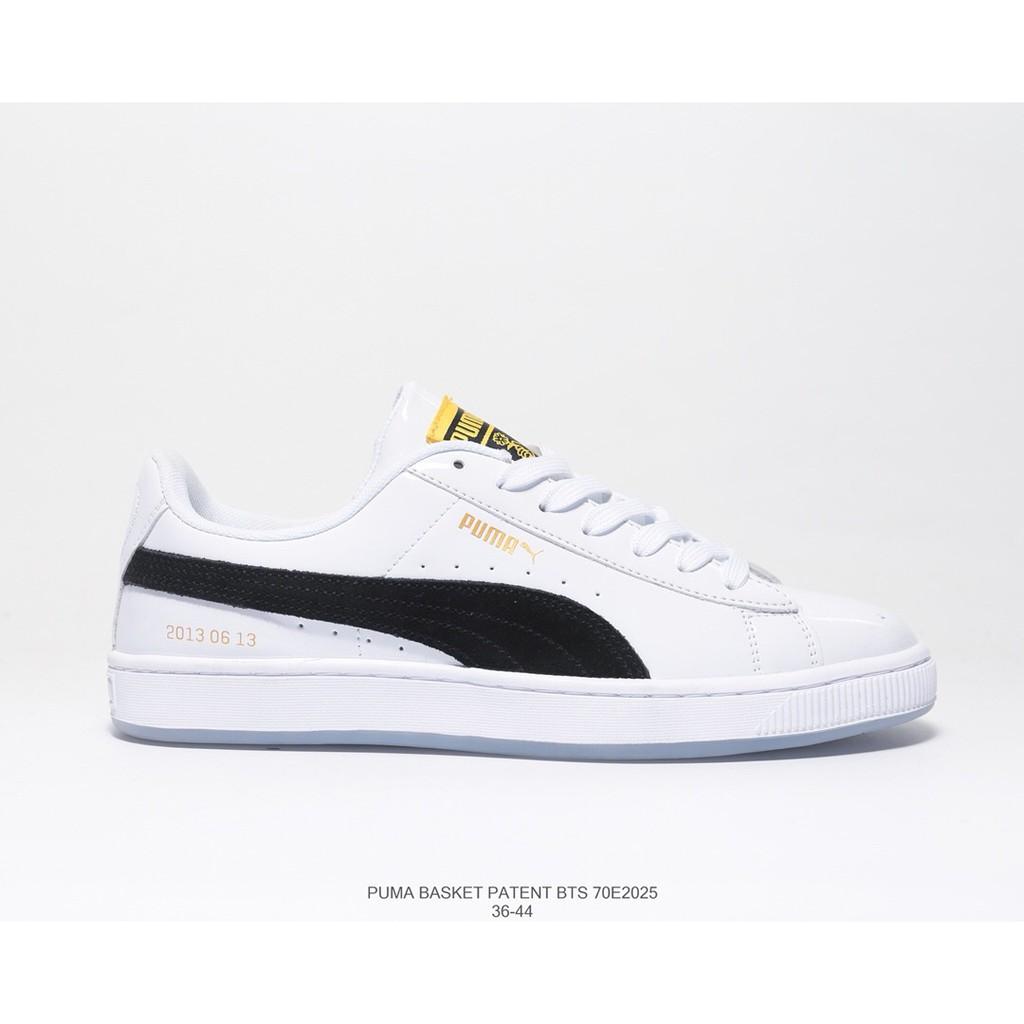 official photos fcf8c b2856 Puma Basket Patent Bts sports shoes men and women shoe