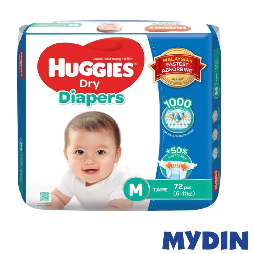 Huggies Dry Diapers M72