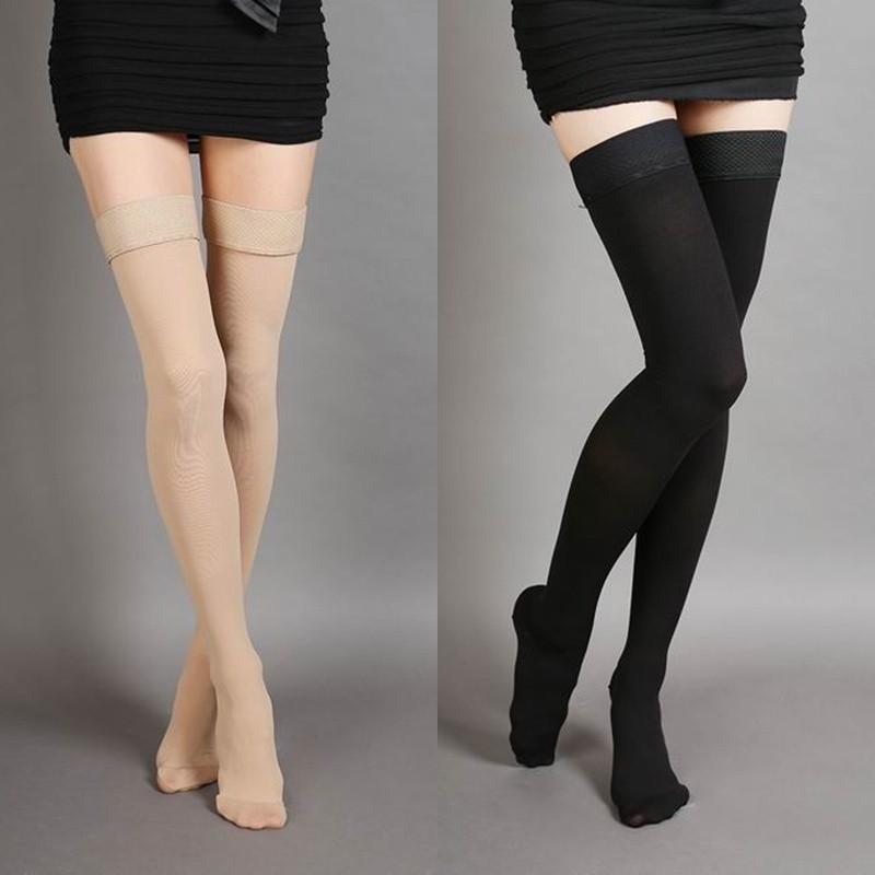 0346c24e61a Varicose Veins Stockings Thigh High 25-30 mmHg Medical Compression Closed  Socks