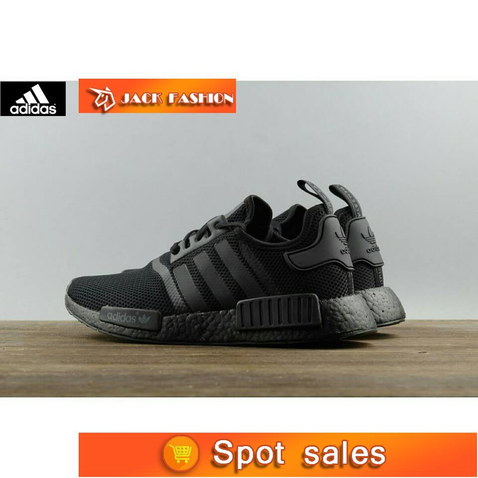 88510f4c0a7fb Adidas NMD R1 Triple Black S31508 all-black webshoe sneakers all-red 100%  ori