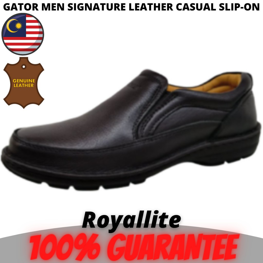 GATOR MEN SIGNATURE LEATHER CASUAL SLIP-ON (9115) Black