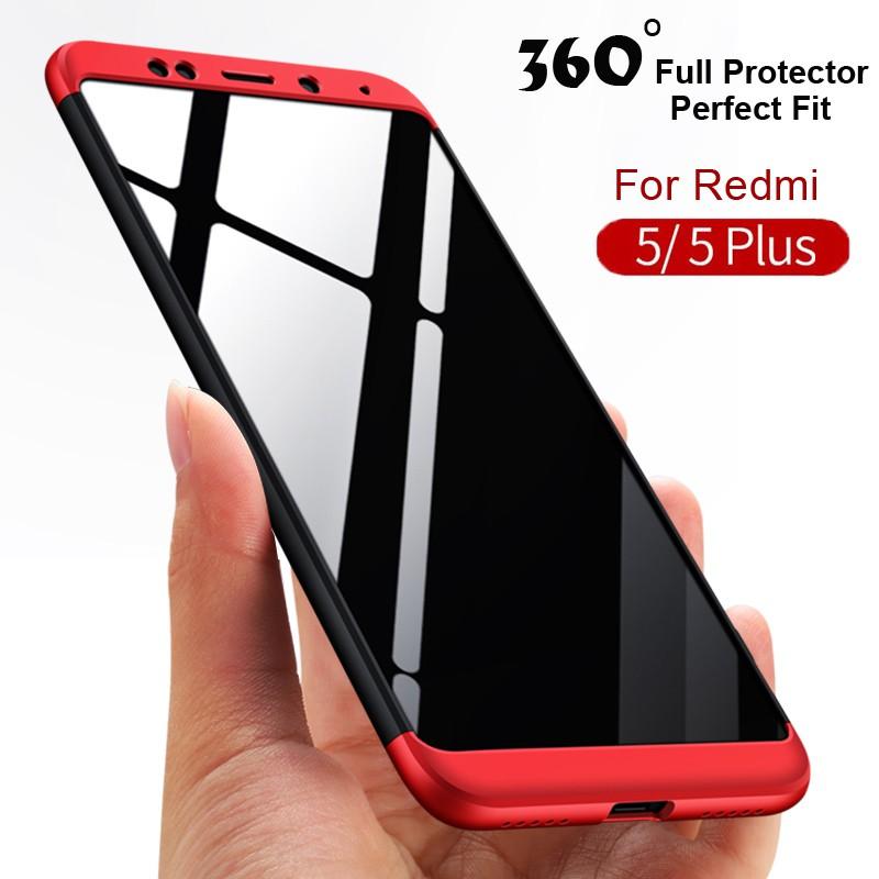 Xiaomi Redmi 5plus 360 Degree Full Protection 3 in 1 Hard PC Matte Shell  Redmi 5