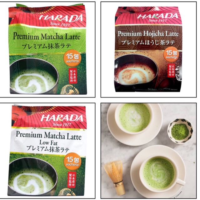 Harada Premium Matcha Latte / Hojicha Latte / Low Fat