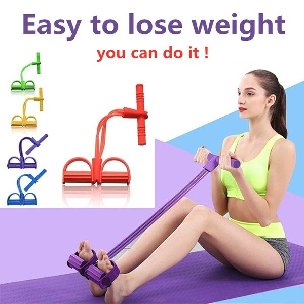 Multi-functional puller pull rope pedal pull rope leg puller sit-up abdominal 健身拉力绳带