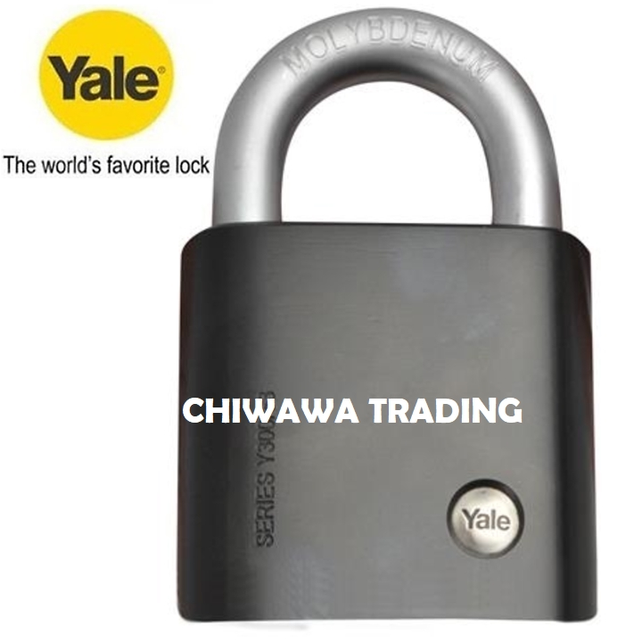 Yale Y300/63/127/1 Silver Series Outdoor Brass / Satin Padlock (Baron Shackle) 63mm
